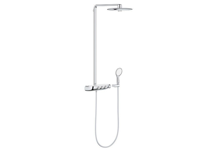 Wall-mounted thermostatic shower panel RAINSHOWER® | Shower panel by Grohe