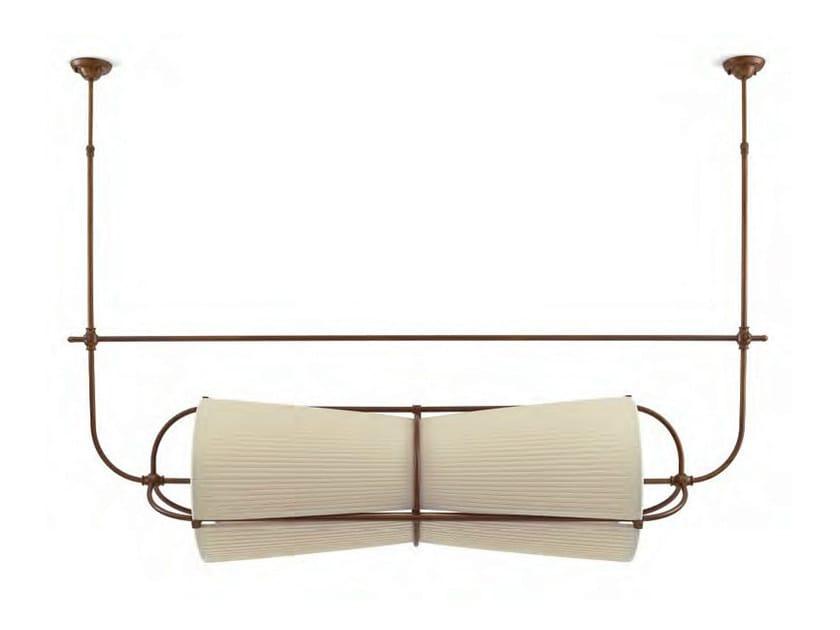 Indirect light fabric ceiling lamp with fixed arm RAIVAVAE by Aldo Bernardi