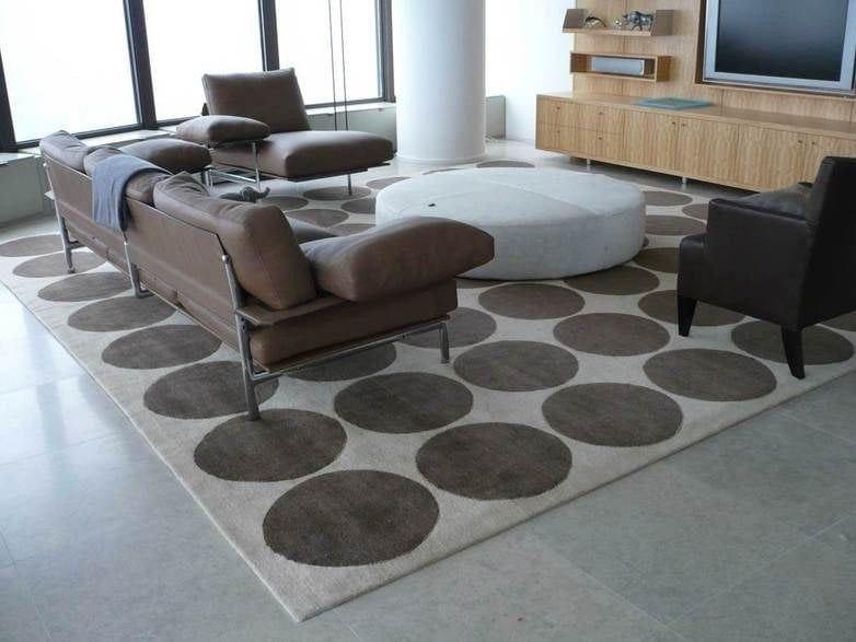 Patterned wool rug RAJA by Casalis