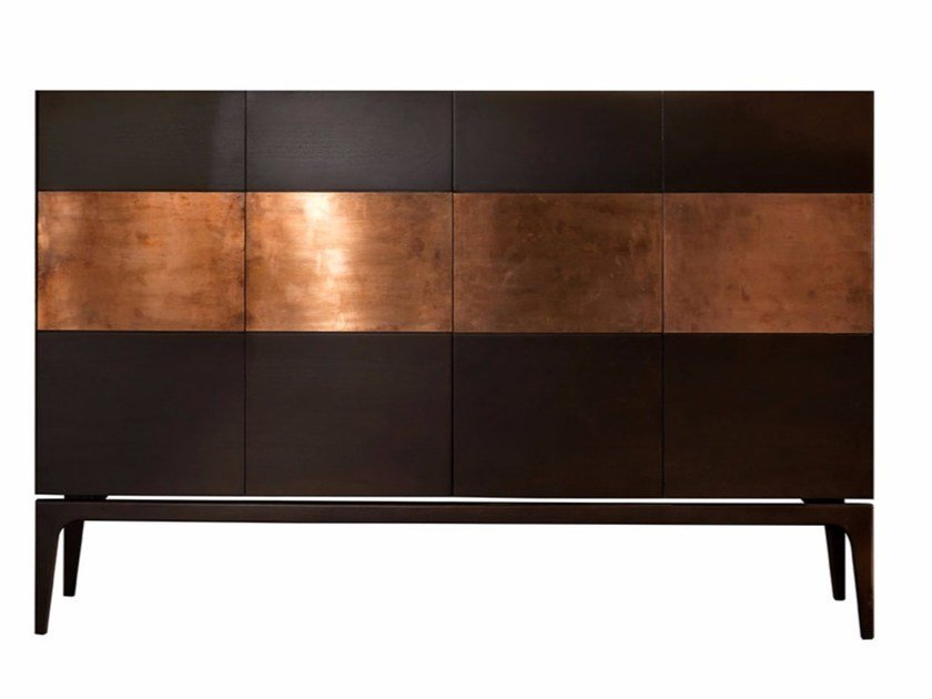 Wooden and copper sideboard RAME by SOFTHOUSE