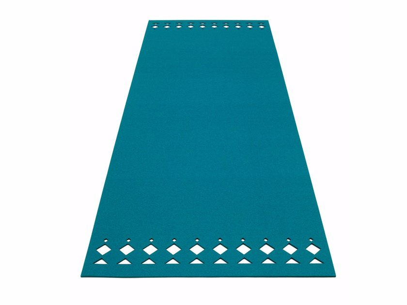 Solid-color rectangular felt rug RANA | Rectangular rug by HEY-SIGN