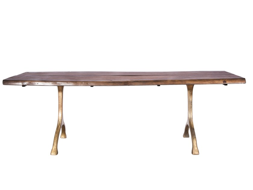 Rectangular solid wood table RANCH by NORR11