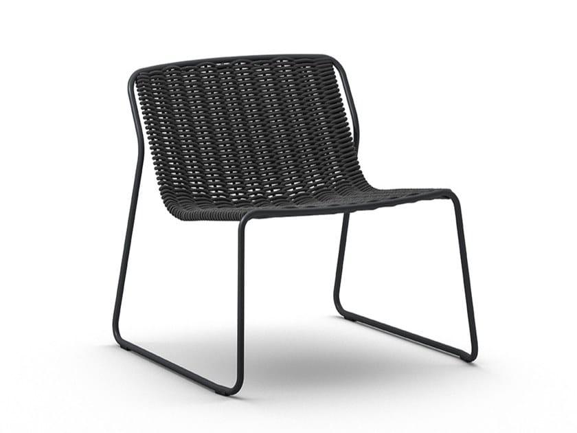 Sled base garden easy chair RANDA LO by arrmet