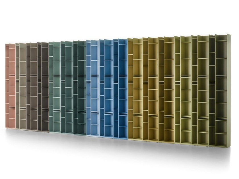 Divider modular wood fibre bookcase RANDOM 2C-3C by MDF Italia