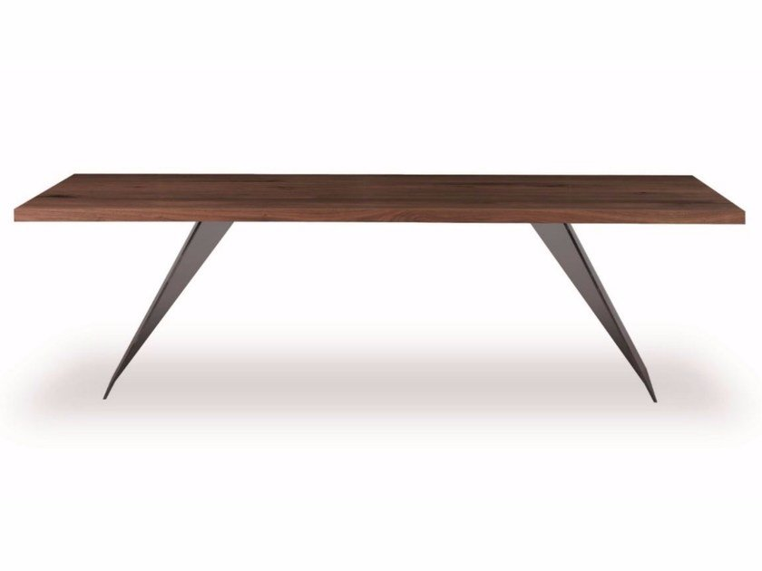 Rectangular solid wood table RANDOM by Riva 1920