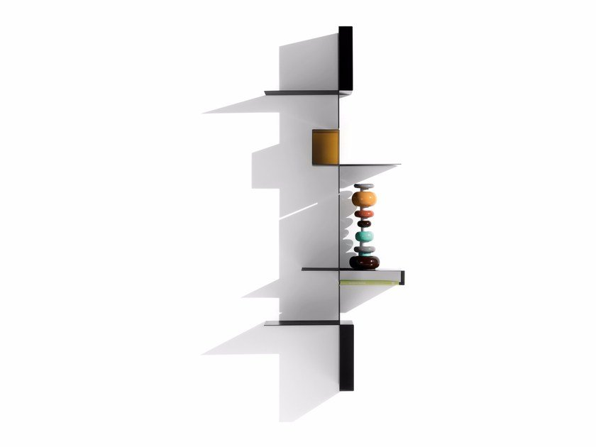 Sectional floating plate bookcase RANDOMISSIMO by MDF Italia