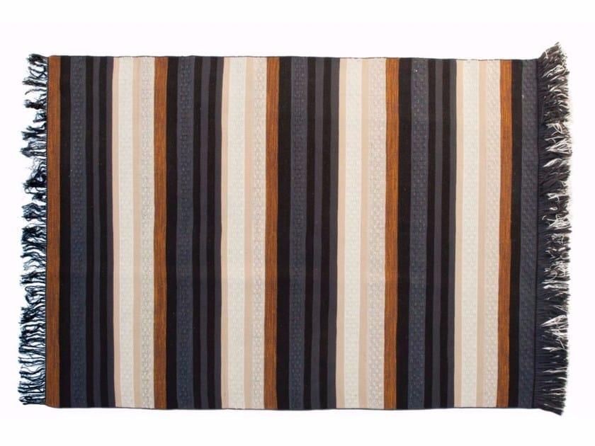 Tappeto fatto a mano rettangolare a righe RANGEE by ROCHE BOBOIS