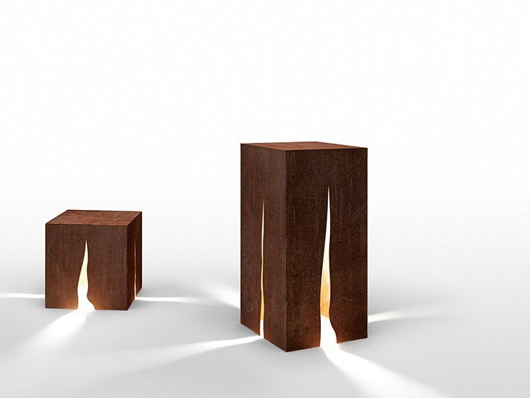 Corten™ bollard light GRANITO by Artemide