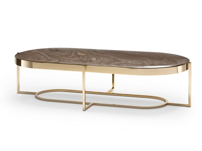 Oval Marble Coffee Table Raoul By Opera Contemporary