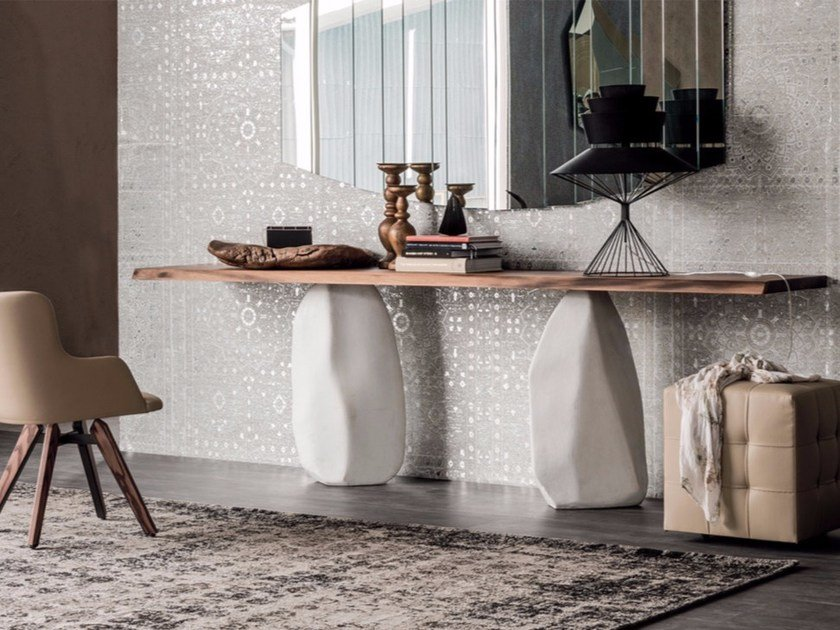 Rectangular wooden console table RAPA NUI by Cattelan Italia