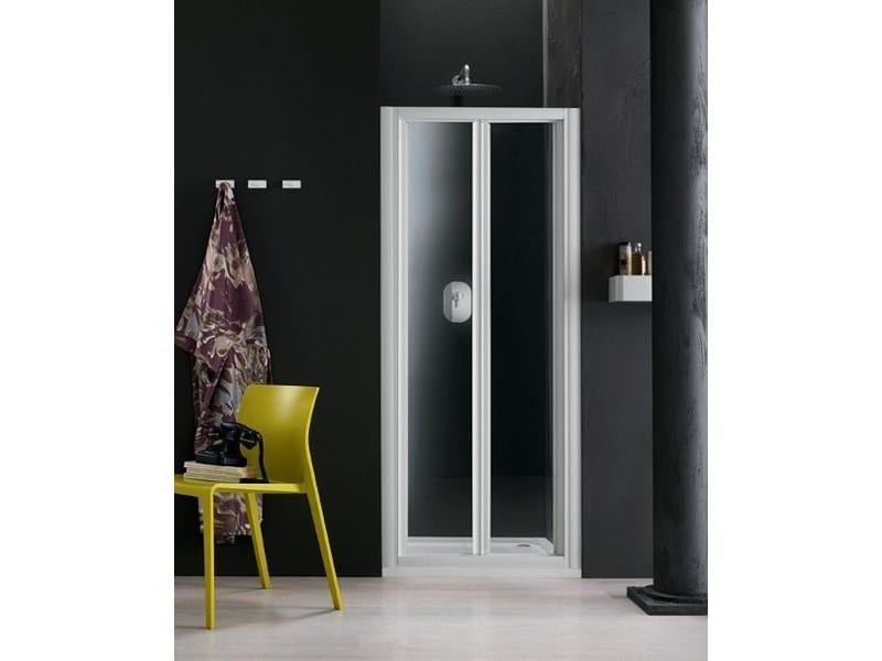 Box doccia a nicchia in vetro con porte a soffietto RAPID - 6 by INDA®