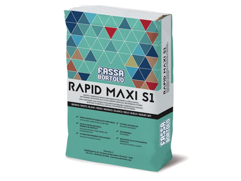 Tile adhesive / Cement adhesive for flooring RAPID MAXI S1 by FASSA