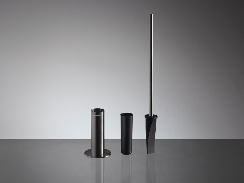 Stainless steel toilet brush RAPIDO by Antonio Lupi Design
