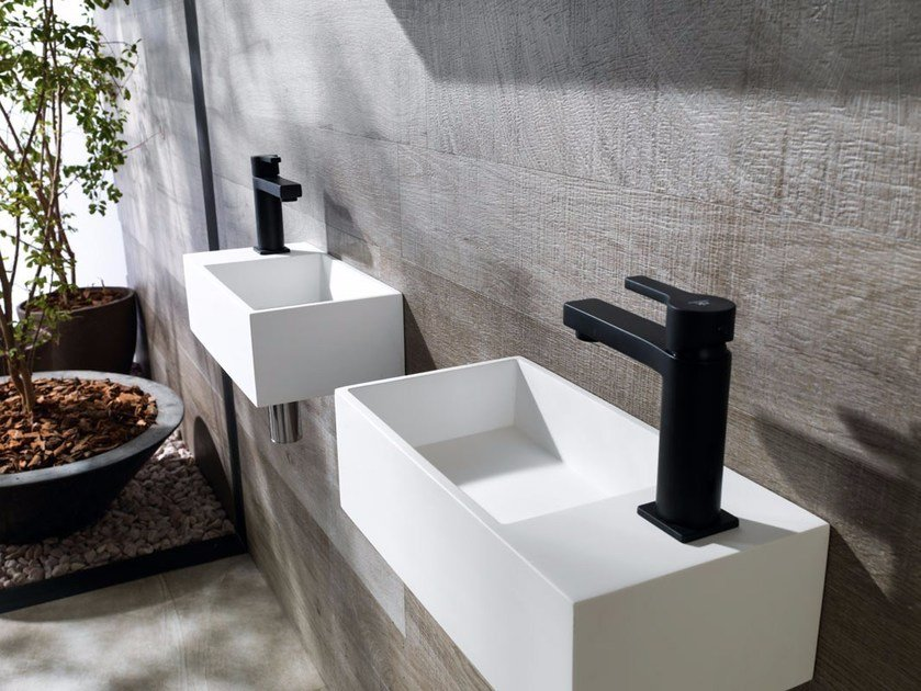 Wall-mounted Krion® handrinse basin RAS | Handrinse basin by Systempool