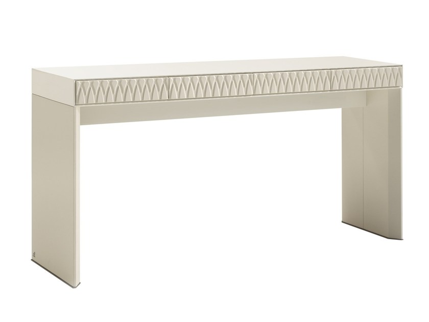 Rectangular rosewood console table with drawers RASHA by Smania