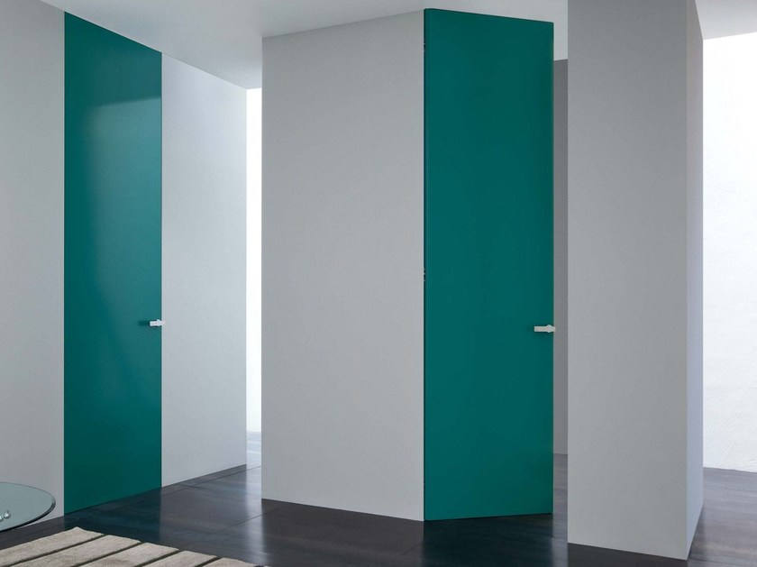 Hinged flush-fitting door with concealed hinges RASOMURO 55r by Lualdi