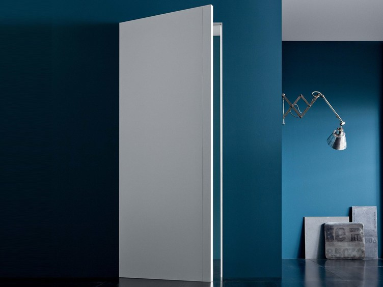 Flush-fitting door with concealed hinges without frame RASOTOUCH by Lualdi
