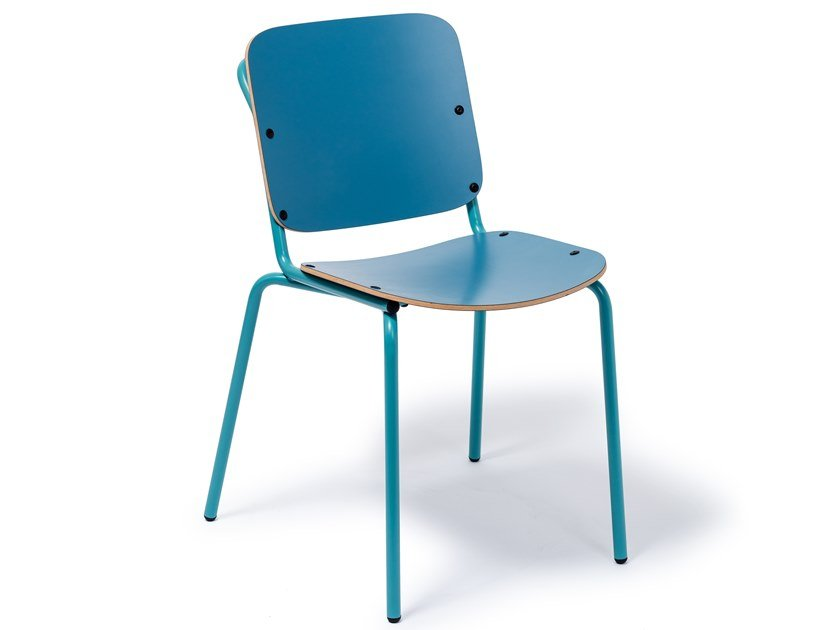 Multi-layer wood chair RASPAIL by Manganèse Éditions