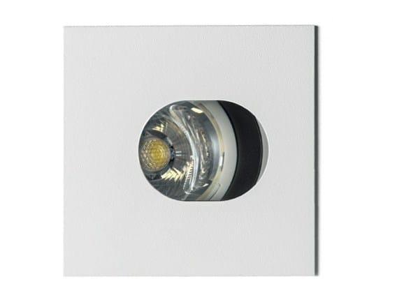 Faretto in metallo a soffitto RASTAF 86 LED QUADRATO by Artemide
