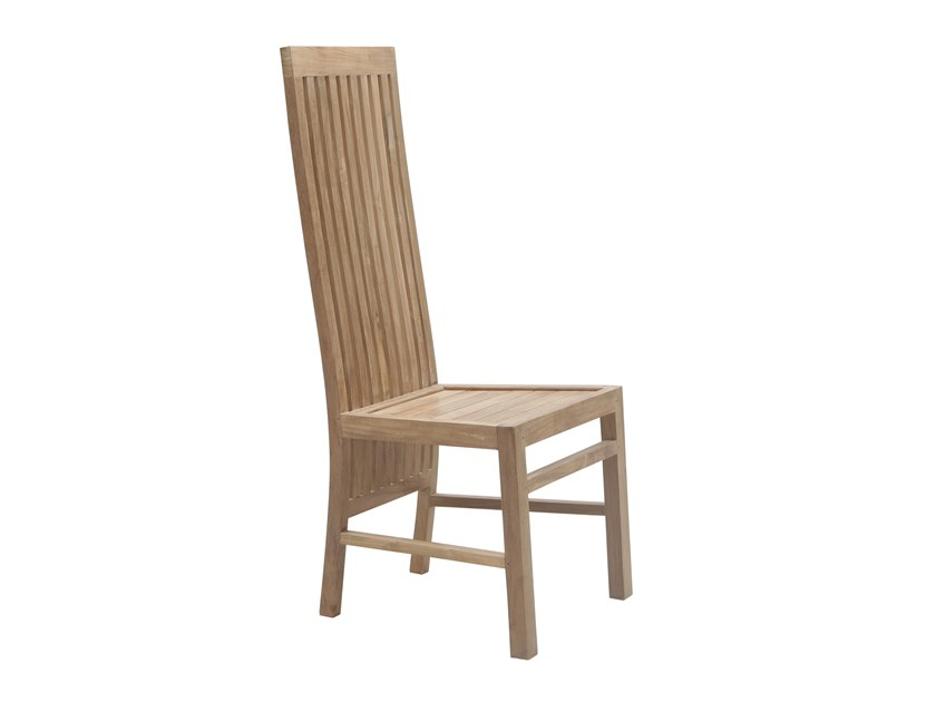 High-back teak garden chair RATIO | High-back chair by Il Giardino di Legno