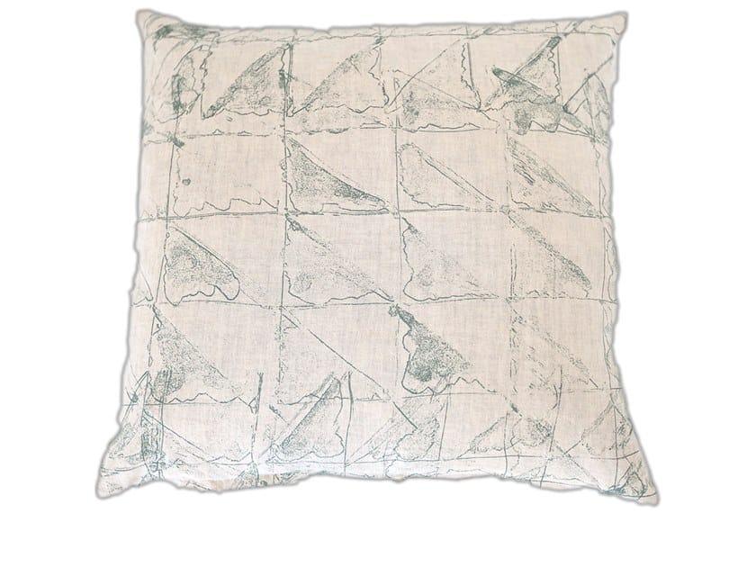 Cuscino quadrato in lino RAUTE by Birgit Morgenstern Studios