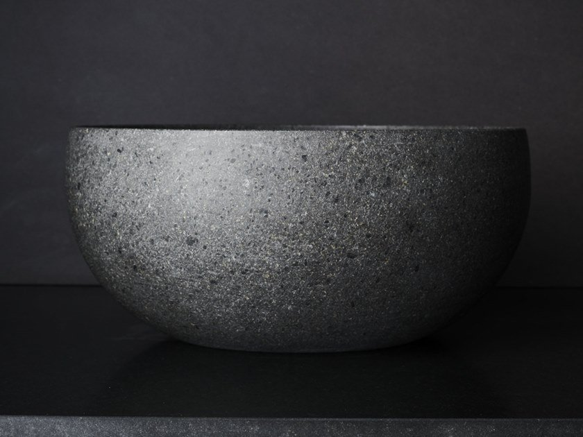 Countertop oval lava stone washbasin RAW NATURE by File Under Pop