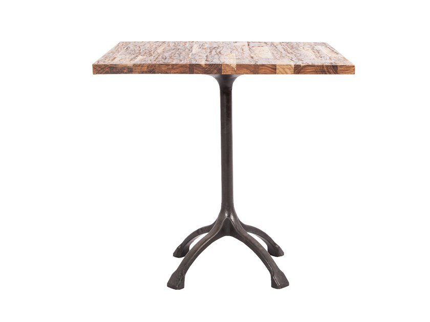 Square rosewood table RAW STRIPED | Square table by NORR11
