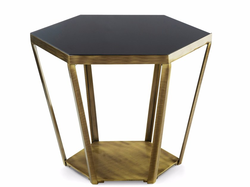 Low crystal coffee table for living room RAY | Crystal coffee table by MARIONI