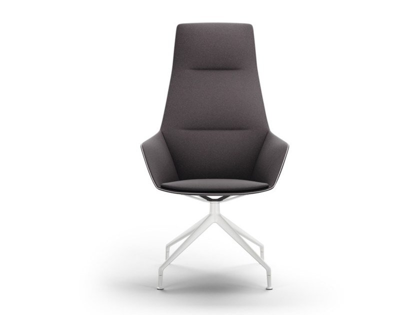 Trestle-based high-back fabric executive chair with armrests RAY SOFT | Trestle-based executive chair by Brunner