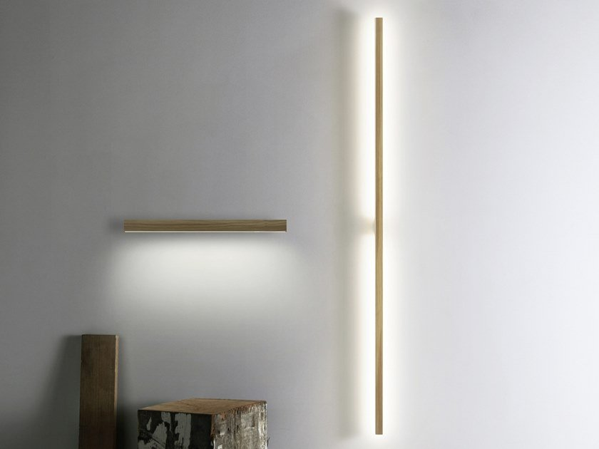 Indirect light wooden wall lamp RAY by Stickbulb