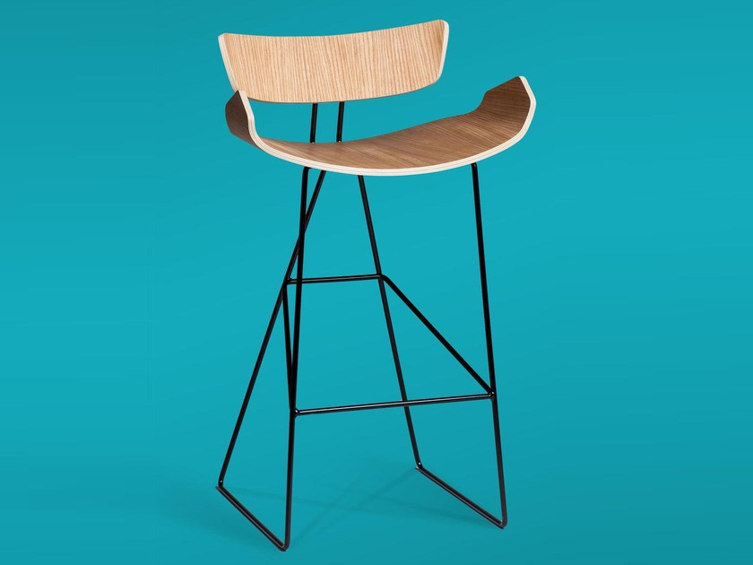High sled base stool with footrest RAY by Tarmeko KIDS