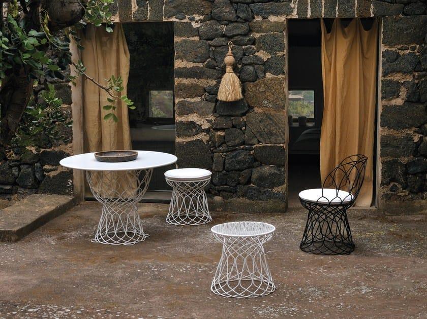 Tavoli Da Giardino Emu.Tavolo Da Giardino Rotondo In Acciaio Re Trouve Tavolo Rotondo Emu