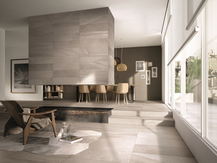 Porcelain stoneware finish / outdoor floor tiles RE-WORK by ABK