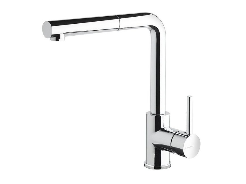Kitchen mixer tap with swivel spout with pull out spray REAL | Kitchen mixer tap with pull out spray by newform