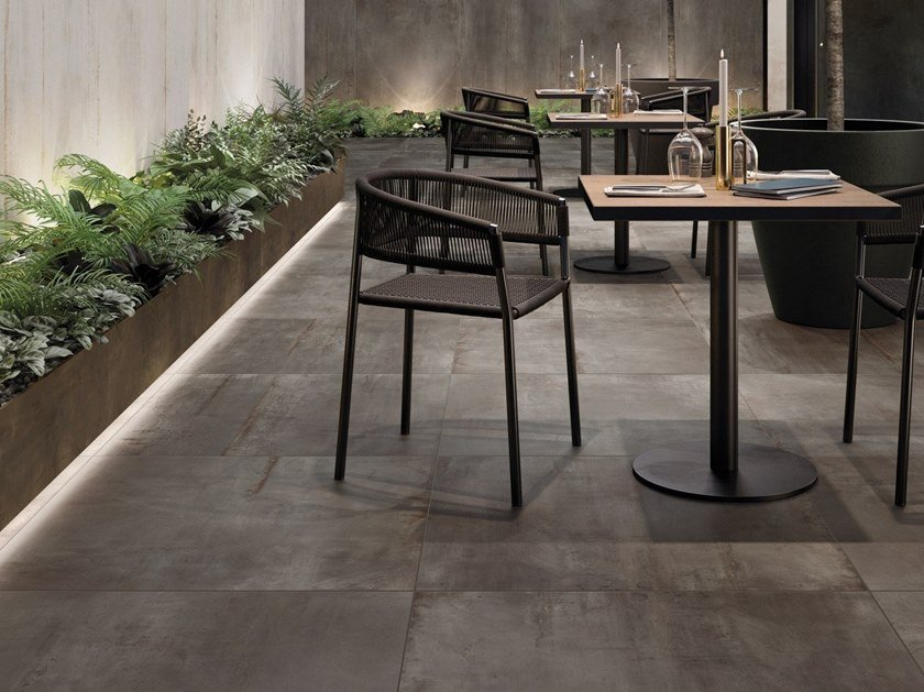 Porcelain stoneware wall/floor tiles with metal effect REBEL by Flaviker