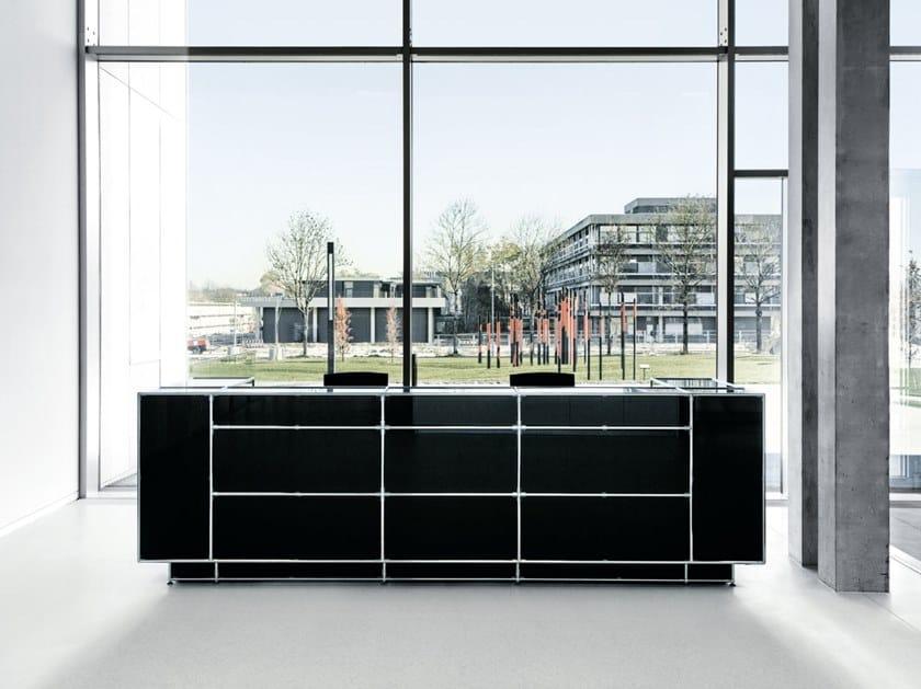 Modular glass Reception desk Reception desk by Bosse