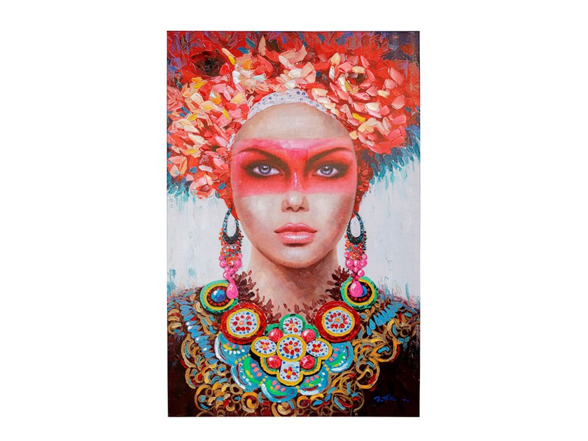 Stampa su tela in tela RED EYE LADY by KARE Design