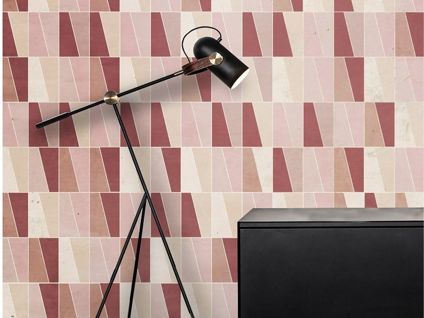 Wall tiles / wallpaper RED SKIN by Officinarkitettura®
