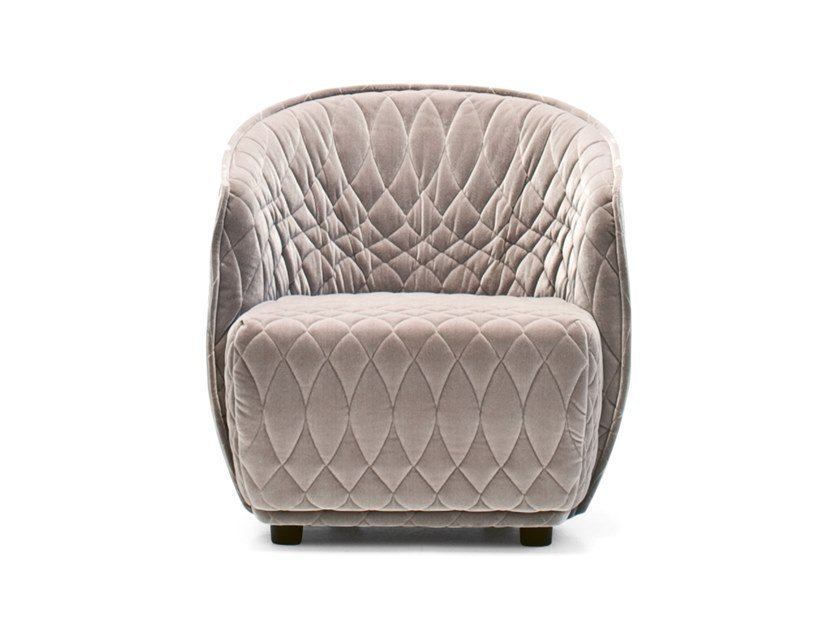 Fabric easy chair with armrests REDONDO | Easy chair by Moroso