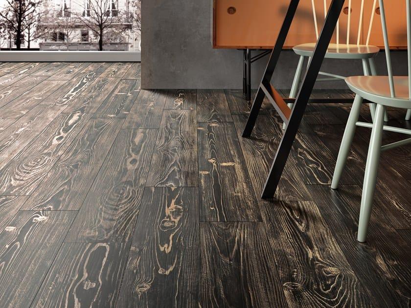 Pavimento in gres porcellanato effetto legno REDWOOD BROWN by La Fabbrica