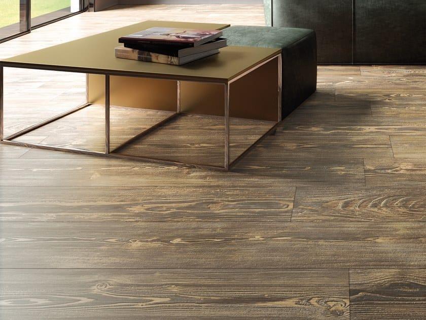 Pavimento in gres porcellanato effetto legno REDWOOD HONEY by La Fabbrica