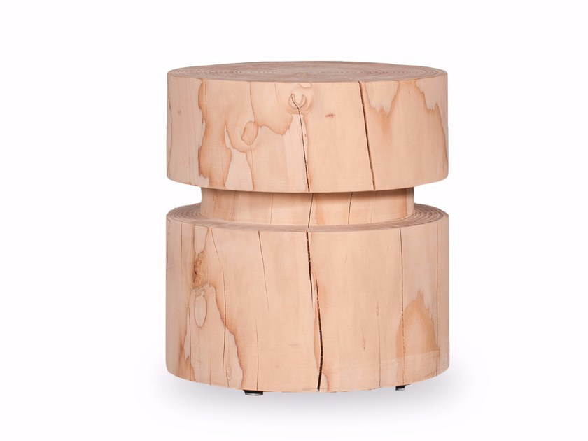 Cedarwood stool REEL by Riva 1920