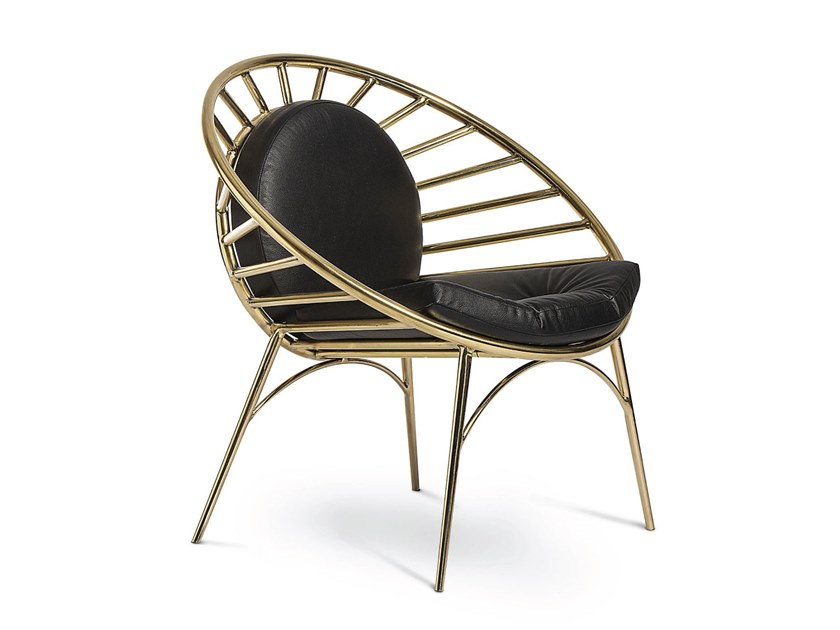 Brass chair REEVES | Chair by Delightfull