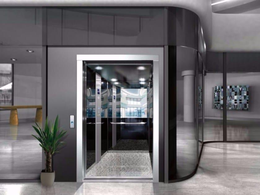 Crystal panels for lift REFLECTA ONICE by OTIS Servizi