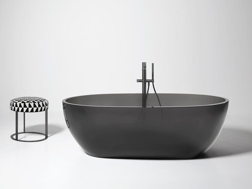 Vasca da bagno centro stanza ovale in Cristalmood® REFLEX by Antonio Lupi Design