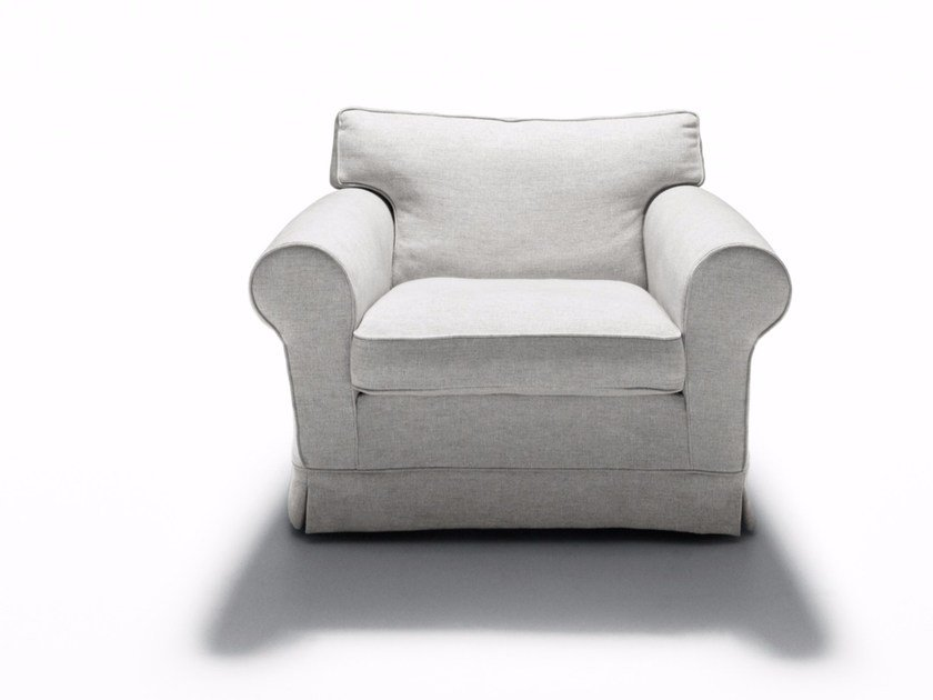 Fabric armchair with removable cover REGENT'S '16 | Armchair by DE PADOVA