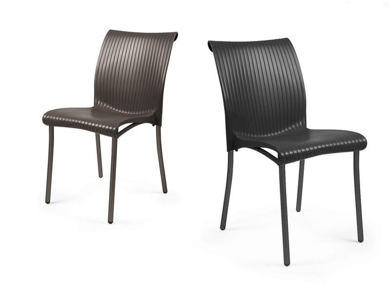 Contemporary style stackable garden chair REGINA by Nardi