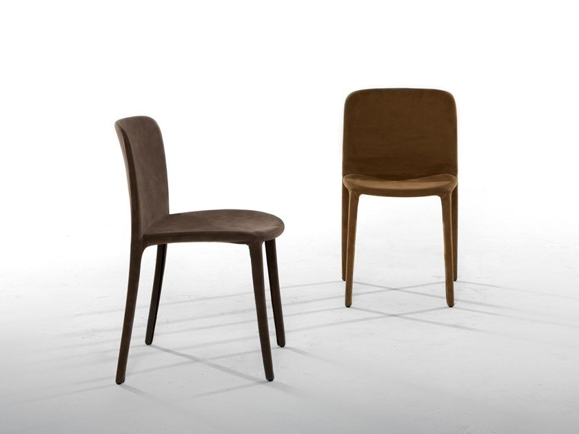 Upholstered leather chair REGINA by Tonin Casa