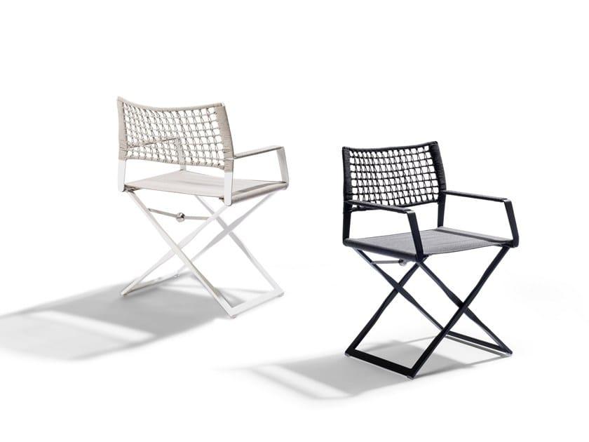 Sedia da giardino pieghevole con braccioli REGISTA | Sedia con braccioli by TRIBÙ