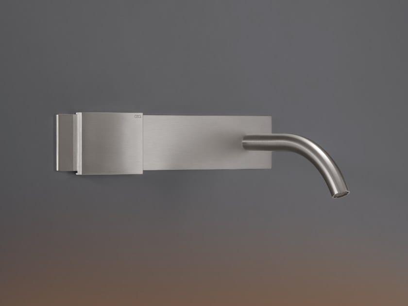 Wall-mounted hydroprogressive stainless steel washbasin mixer REGOLO 02 by Ceadesign